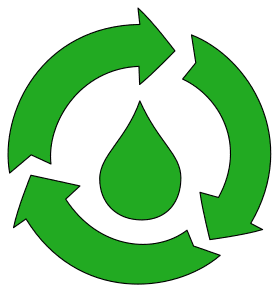Free printable Recycling Water (Save Environment).  green logo icon vector clipart design recycle recycling clean save environment svg vector image.