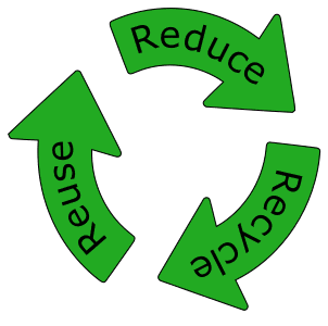 Free printable Reduce Reuse Recycle Symbol with Text.  green logo icon vector clipart design recycle recycling clean save environment svg vector image.
