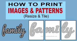 How to Print an Image or Pattern.