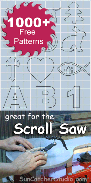 Free DIY scroll saw patterns, ideas, projects, beginners, stencils, monograms, signs, religious, letters.