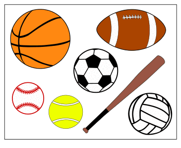 All Sports Balls.  Use these printable sports balls patterns, stencils, templates for decorations, coloring pages, Cricut designs, silhouette, vector and svg cutting machines, woodworking patterns.