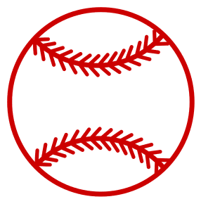 Baseball or Softball.  Use these printable sports balls patterns, stencils, templates for decorations, coloring pages, Cricut designs, silhouette, vector and svg cutting machines, woodworking patterns.