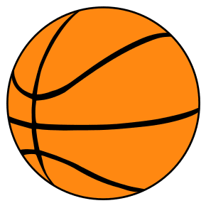 Basketball Pattern.  Use these printable sports balls patterns, stencils, templates for decorations, coloring pages, Cricut designs, silhouette, vector and svg cutting machines, woodworking patterns.