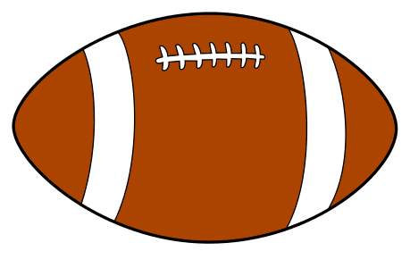 Football Pattern.  Use these printable sports balls patterns, stencils, templates for decorations, coloring pages, Cricut designs, silhouette, vector and svg cutting machines, woodworking patterns.