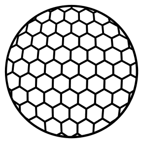 Golf Ball Pattern.  Use these printable sports balls patterns, stencils, templates for decorations, coloring pages, Cricut designs, silhouette, vector and svg cutting machines, woodworking patterns.