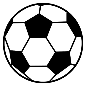 Soccer Ball Pattern.  Use these printable sports balls patterns, stencils, templates for decorations, coloring pages, Cricut designs, silhouette, vector and svg cutting machines, woodworking patterns.