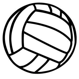 Volleyball Pattern.  Use these printable sports balls patterns, stencils, templates for decorations, coloring pages, Cricut designs, silhouette, vector and svg cutting machines, woodworking patterns.