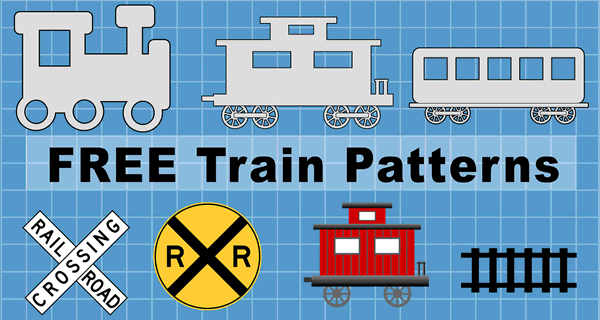 Train Cars and Locomotives (Clip Art, Patterns, and Templates)