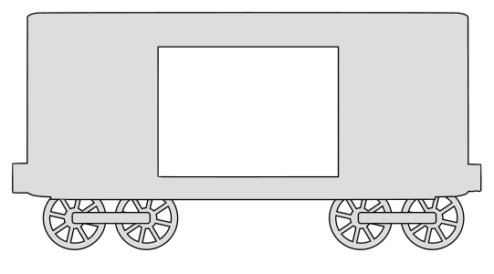 Free Box car pattern (Set 2).  vector, cricut, silhouette, train car clipart, patterns, stencils, templates, cricut, scroll saw, svg, coloring page, quilting pattern