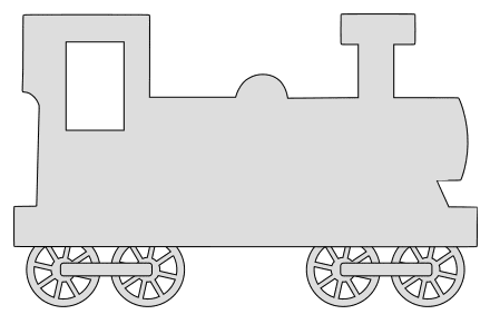 Free Train locomotive (Set 2).  vector, cricut, silhouette, train car clipart, patterns, stencils, templates, cricut, scroll saw, svg, coloring page, quilting pattern