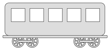Free Passenger car (Set 2).  vector, cricut, silhouette, train car clipart, patterns, stencils, templates, cricut, scroll saw, svg, coloring page, quilting pattern
