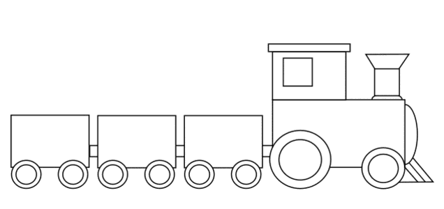 Free Train engine and cars.  vector, cricut, silhouette, train car clipart, patterns, stencils, templates, cricut, scroll saw, svg, coloring page, quilting pattern