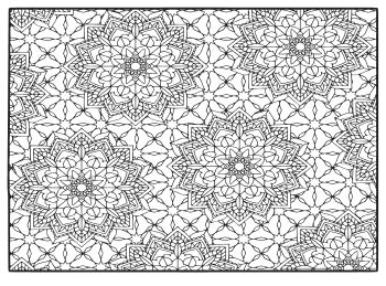 Free printable Colorado coloring page with pattern to color for preschool, kids,  and adults.