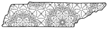 Free printable Tennessee coloring page with pattern to color for preschool, kids,  and adults.