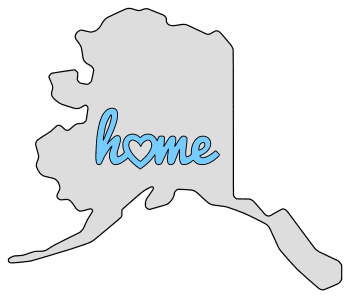 Alaska home heart stencil pattern template shape state clip art outline printable downloadable free template map scroll saw pattern, laser cutting, vector graphic.