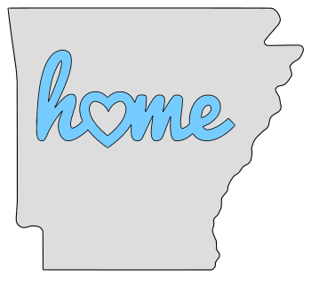 Arkansas home heart stencil pattern template shape state clip art outline printable downloadable free template map scroll saw pattern, laser cutting, vector graphic.