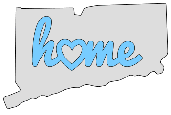 Connecticut home heart stencil pattern template shape state clip art outline printable downloadable free template map scroll saw pattern, laser cutting, vector graphic.