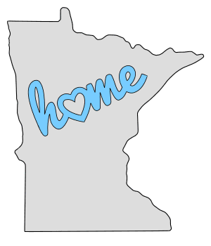 Minnesota home heart stencil pattern template shape state clip art outline printable downloadable free template map scroll saw pattern, laser cutting, vector graphic.