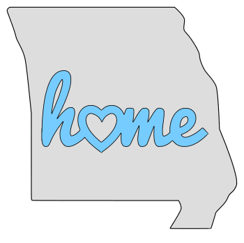Missouri home heart stencil pattern template shape state clip art outline printable downloadable free template map scroll saw pattern, laser cutting, vector graphic.