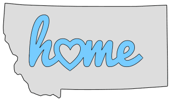 Montana home heart stencil pattern template shape state clip art outline printable downloadable free template map scroll saw pattern, laser cutting, vector graphic.