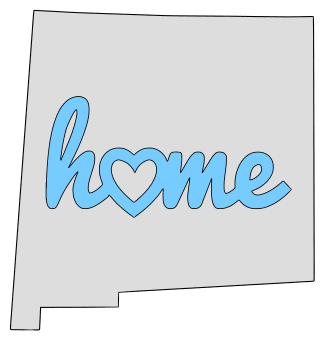 New Mexico home heart stencil pattern template shape state clip art outline printable downloadable free template map scroll saw pattern, laser cutting, vector graphic.