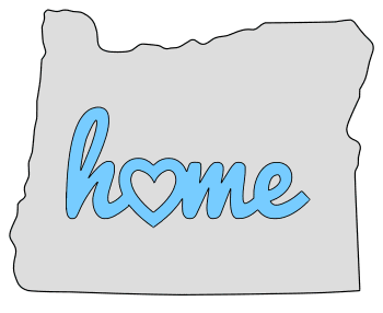Oregon home heart stencil pattern template shape state clip art outline printable downloadable free template map scroll saw pattern, laser cutting, vector graphic.