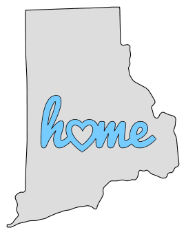 Rhode Island home heart stencil pattern template shape state clip art outline printable downloadable free template map scroll saw pattern, laser cutting, vector graphic.