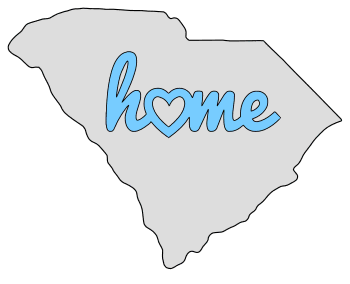 South Carolina home heart stencil pattern template shape state clip art outline printable downloadable free template map scroll saw pattern, laser cutting, vector graphic.