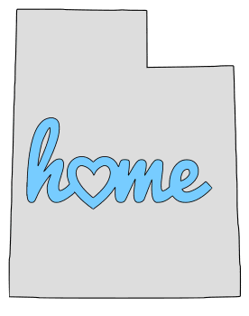 Utah home heart stencil pattern template shape state clip art outline printable downloadable free template map scroll saw pattern, laser cutting, vector graphic.