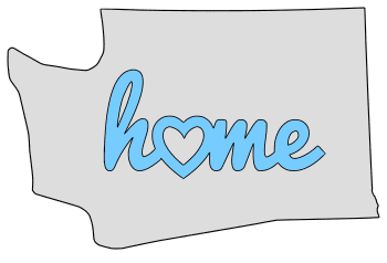 Washington home heart stencil pattern template shape state clip art outline printable downloadable free template map scroll saw pattern, laser cutting, vector graphic.