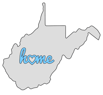 West Virginia home heart stencil pattern template shape state clip art outline printable downloadable free template map scroll saw pattern, laser cutting, vector graphic.
