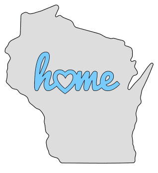 Wisconsin home heart stencil pattern template shape state clip art outline printable downloadable free template map scroll saw pattern, laser cutting, vector graphic.