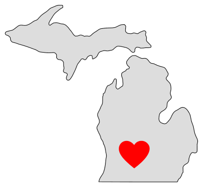 Free Michigan map outline shape state stencil clip art scroll saw pattern print download silhouette or cricut design free template, cutting file.