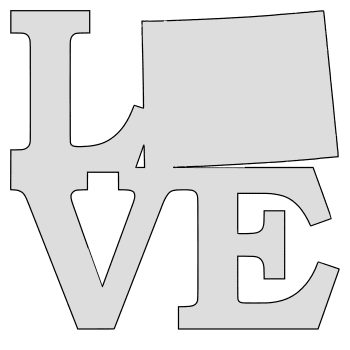 Wyoming map love state stencil clip art scroll saw pattern printable downloadable free template, laser cutting, vector graphic.