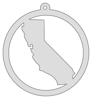 California map inside circle state stencil clip art scroll saw pattern printable downloadable free template, laser cutting, vector graphic, silhouette or cricut design.