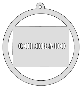 Colorado map inside circle state stencil clip art scroll saw pattern printable downloadable free template, laser cutting, vector graphic, silhouette or cricut design.