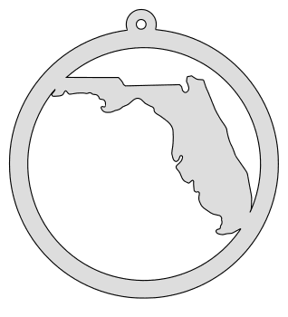 Florida map inside circle state stencil clip art scroll saw pattern printable downloadable free template, laser cutting, vector graphic, silhouette or cricut design.