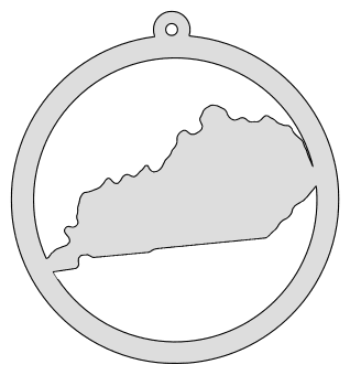 Kentucky map inside circle state stencil clip art scroll saw pattern printable downloadable free template, laser cutting, vector graphic, silhouette or cricut design.