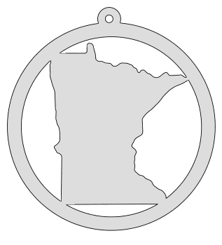 Minnesota map inside circle state stencil clip art scroll saw pattern printable downloadable free template, laser cutting, vector graphic, silhouette or cricut design.