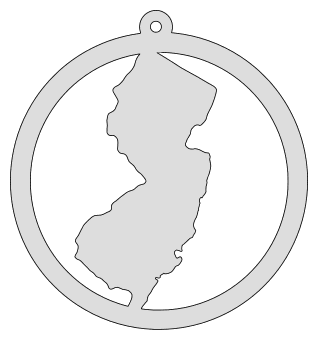 New Jersey map inside circle state stencil clip art scroll saw pattern printable downloadable free template, laser cutting, vector graphic, silhouette or cricut design.