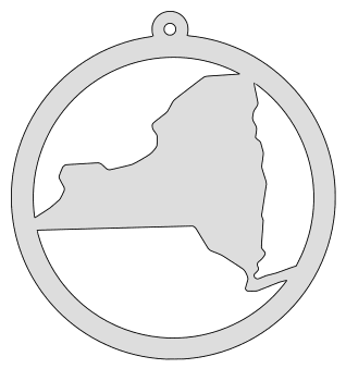 New York map inside circle state stencil clip art scroll saw pattern printable downloadable free template, laser cutting, vector graphic, silhouette or cricut design.