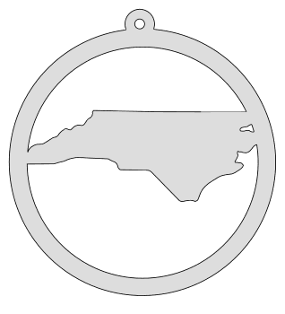 North Carolina map inside circle state stencil clip art scroll saw pattern printable downloadable free template, laser cutting, vector graphic, silhouette or cricut design.