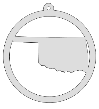 Oklahoma map inside circle state stencil clip art scroll saw pattern printable downloadable free template, laser cutting, vector graphic, silhouette or cricut design.