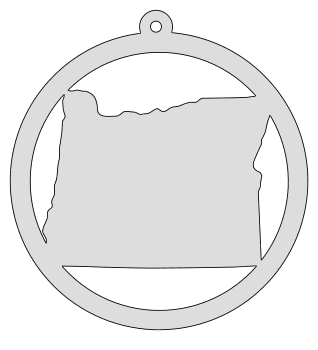 Oregon map inside circle state stencil clip art scroll saw pattern printable downloadable free template, laser cutting, vector graphic, silhouette or cricut design.