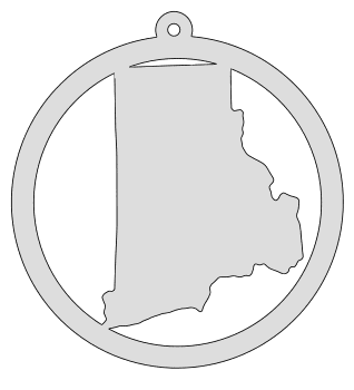Rhode Island map inside circle state stencil clip art scroll saw pattern printable downloadable free template, laser cutting, vector graphic, silhouette or cricut design.