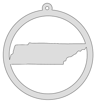 Tennessee map inside circle state stencil clip art scroll saw pattern printable downloadable free template, laser cutting, vector graphic, silhouette or cricut design.