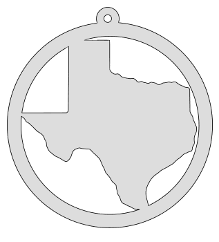 Texas map inside circle state stencil clip art scroll saw pattern printable downloadable free template, laser cutting, vector graphic, silhouette or cricut design.