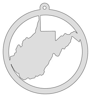 West Virginia map inside circle state stencil clip art scroll saw pattern printable downloadable free template, laser cutting, vector graphic, silhouette or cricut design.