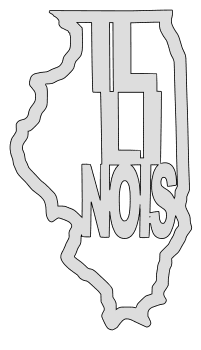 Illinois map outline shape state stencil clip art scroll saw pattern printable downloadable free template, laser cutting, vector graphic.