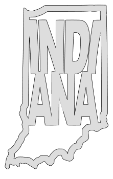 Indiana map outline shape state stencil clip art scroll saw pattern printable downloadable free template, laser cutting, vector graphic.
